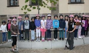 Die Rollerkids der Adolf- von-Dalberg-Schule Fulda